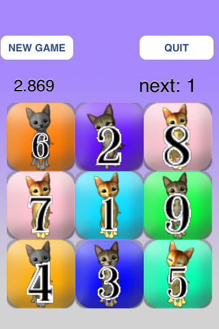 Screenshot Touch the Cat's Numbers